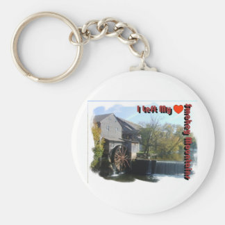 I Left my Heart in the Smokey Mountains Basic Round Button Keychain