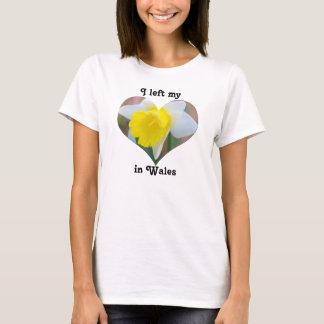 I Left My Heart in Wales United Kingdom Daffodil T-Shirt