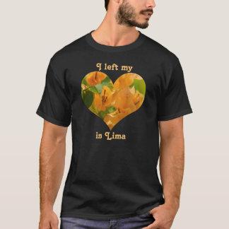 I Left My Heart Lima Peru Orange Bougainvillea T-Shirt