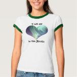 I Left My Heart North Pole Arctic Aurora Borealis T-shirt
