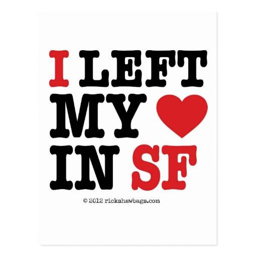 I Left My Heart Post Card