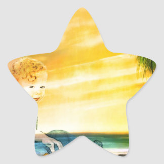 I LEFT MY INNER CHILD AT THE BEACH! STAR STICKER