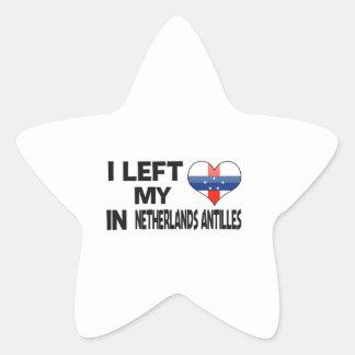 I left my love in Netherlands Antilles. Star Sticker