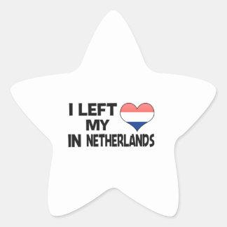 I left my love in Netherlands. Star Sticker