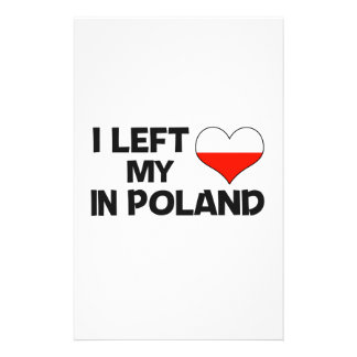 I left my love in Poland. Stationery
