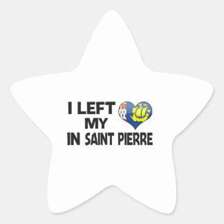 I left my love in Saint Pierre. Star Sticker