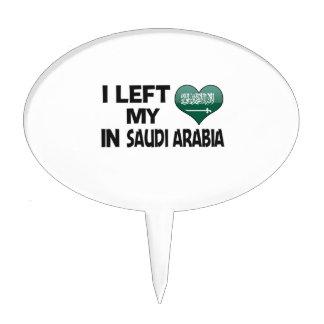 I left my love in Saudi Arabia. Cake Picks