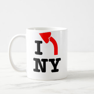 I LEFT New York - Heart Arrowhead mug