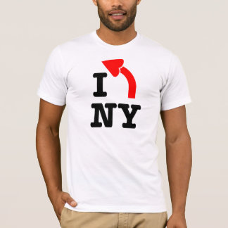 I LEFT New York - Heart Arrowhead T-Shirt