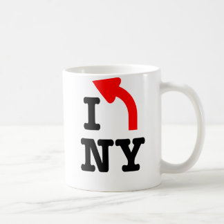 I LEFT New York mug