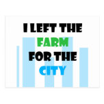i left the farm for the city post card