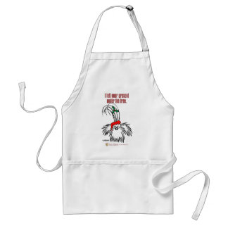 I left your present under the tree adult apron