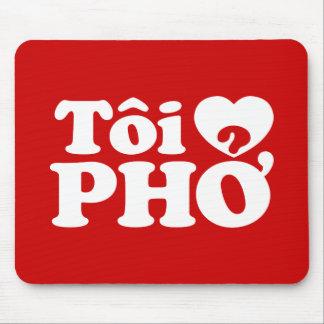 I lengua vietnamita de Pho del corazón (amor) (❤ Mousepad