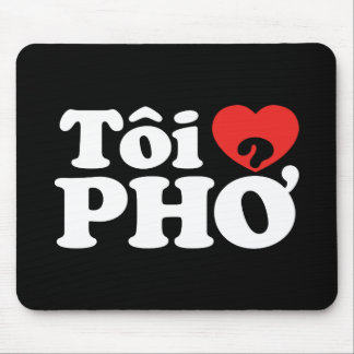 I lengua vietnamita de Pho del corazón (amor) (❤ Mousepads