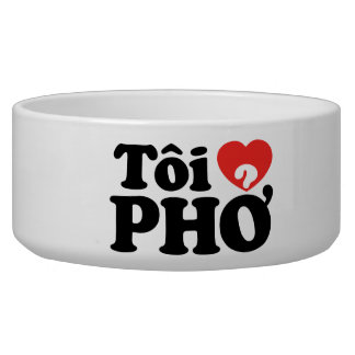 I lengua vietnamita de Pho del corazón (amor) (❤ P Tazon Para Perro