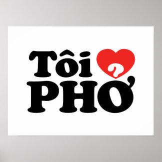 I lengua vietnamita de Pho del corazón (amor) (❤ P Póster