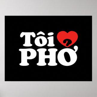 I lengua vietnamita de Pho del corazón (amor) (❤ Póster