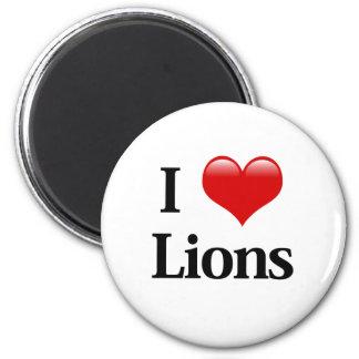 I leones del corazón imán redondo 5 cm