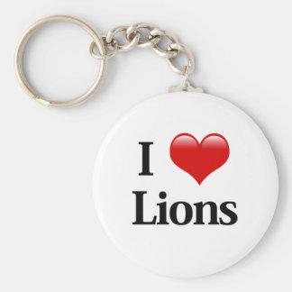 I leones del corazón llavero redondo tipo pin