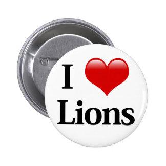 I leones del corazón pin redondo de 2 pulgadas