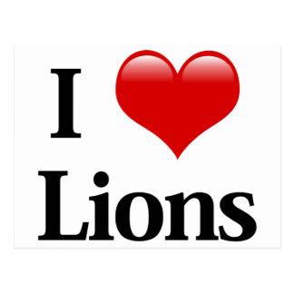 I leones del corazón postales