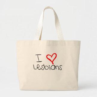 I lesbianas del corazón bolsas de mano