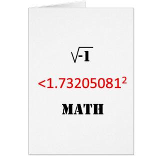 i less than 3 math card