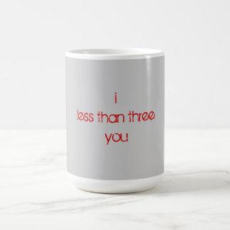 I less than three you (<3) classic white coffee mug