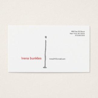 I Letter Alphabet Business Card Grey