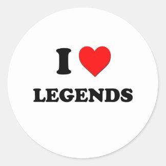 I leyendas del corazón pegatina redonda