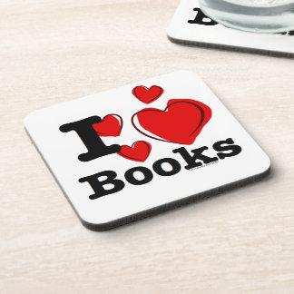 ¡I libros del corazón! ¡Amo los libros! (Corazón i Posavaso