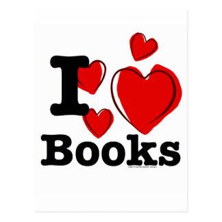 ¡I libros del corazón! ¡Amo los libros! (Corazón Postal