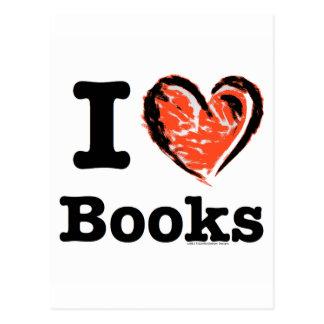 ¡I libros del corazón! ¡Amo los libros! (Corazón Postales