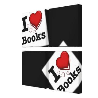 ¡I libros del corazón! ¡Amo los libros! (Corazón s Lona Estirada Galerias