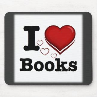¡I libros del corazón! ¡Amo los libros! (Corazón s Alfombrilla De Ratón