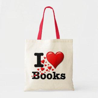¡I libros del corazón! ¡Amo los libros! (Rastro de Bolsa Tela Barata