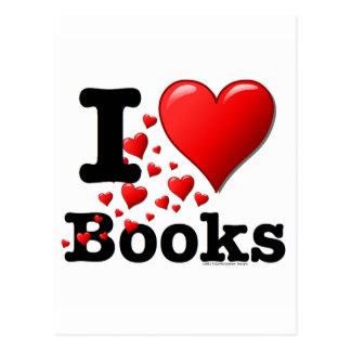¡I libros del corazón! ¡Amo los libros! (Rastro de Tarjetas Postales
