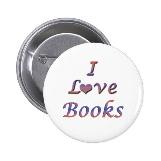 I libros del corazón (amor) pin redondo de 2 pulgadas