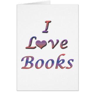 I libros del corazón (amor) tarjeta de felicitación
