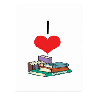 I libros del corazón (amor) tarjeta postal