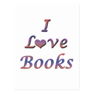 I libros del corazón (amor) tarjetas postales