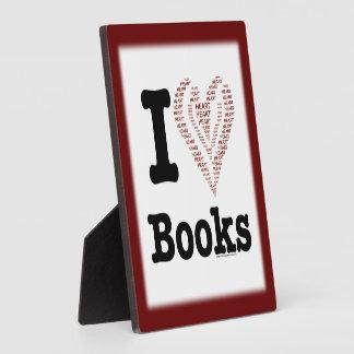 ¡I libros del corazón - libros del amor de I Cor Placas De Madera