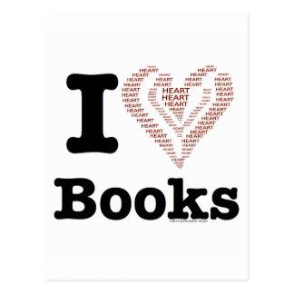 ¡I libros del corazón - libros del amor de I! (Cor Postal