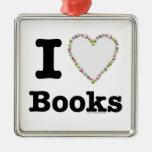 ¡I libros del corazón - libros del amor de I! Remo Ornamento De Navidad