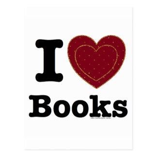 ¡I libros del corazón - libros del amor de I! Tarjeta Postal