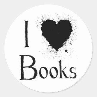 I libros del corazón etiqueta redonda