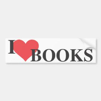 I libros del corazón pegatina para auto