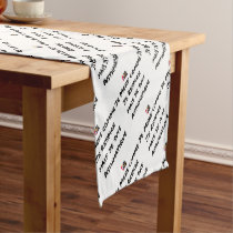 I LIE AS I BREATHE, BUT I AM ASTHMATIC SHORT TABLE RUNNER