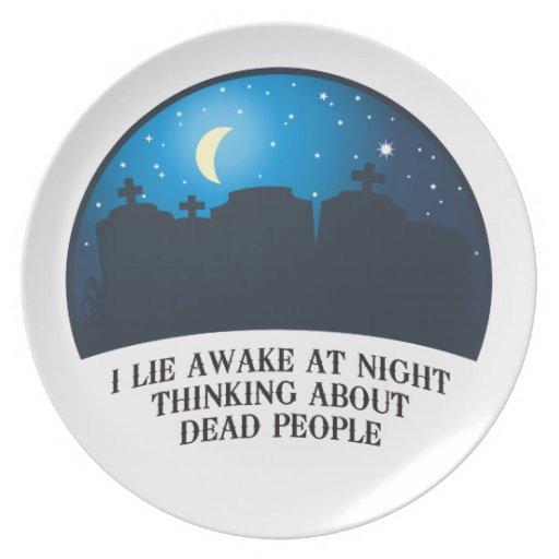 I Lie Awake (2011) Party Plates