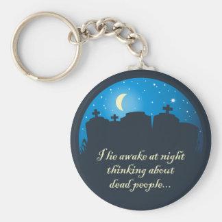 I Lie Awake At Night Basic Round Button Keychain